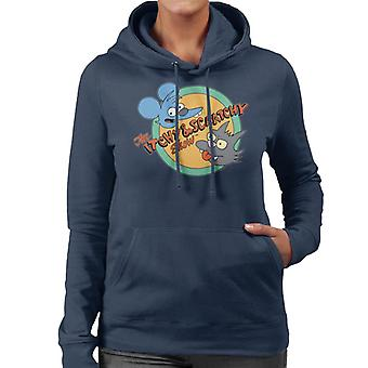 Los Simpsons Itchy And Scratchy Show Sudadera con capucha para mujer