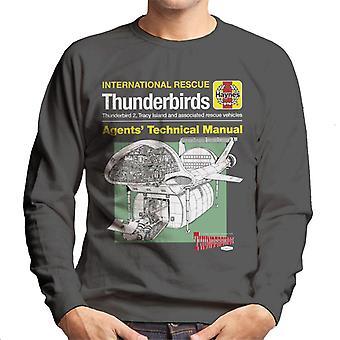 Thunderbirds technische handleiding schip mannen ' s Sweatshirt