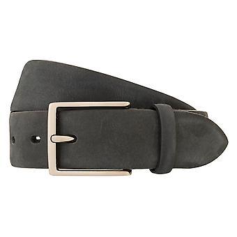 LLOYD Men's Belt riem herengordel volle koehuid leer antraciet/grijs 3277