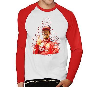Motorsport billeder Sebastian Vettel pole position sejr canadiske GP mænd ' s baseball langærmet T-shirt