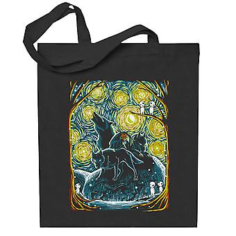 Starry Forest Princess Monoke Studio Ghibli Totebag