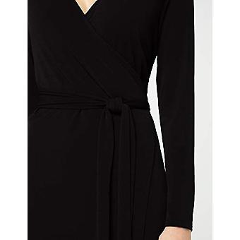 MERAKI Women's Wrap Dress, Svart, EU XS (US 0-2)