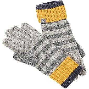 Joules Womens Chillaway Striped Supersoft Winter Gloves