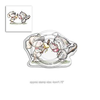Polkadoodles Horace & Boo Delicious Day Clear Stamp