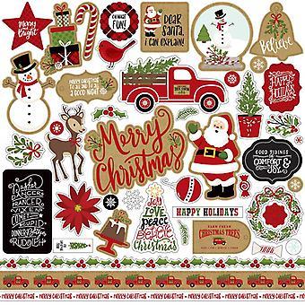 Echo Park feiern Weihnachten 12 x 12 Zoll Element Aufkleber