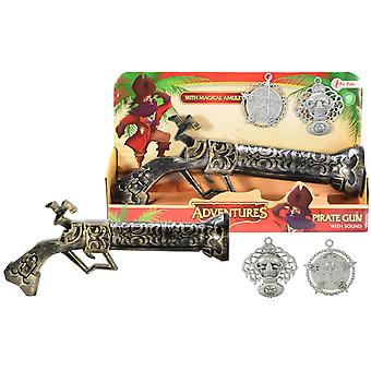 Adventures Pirate Gun With Sound And Amulets 28cm