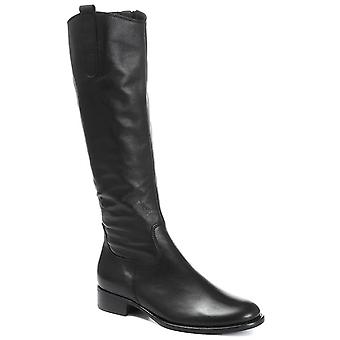 Gabor Womens Brook Extra Slim Fit Calf Leather Rider Boot