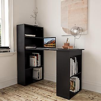 Black Desk en Boekenplank voor Home Office - Piranha Furniture Labyrinth