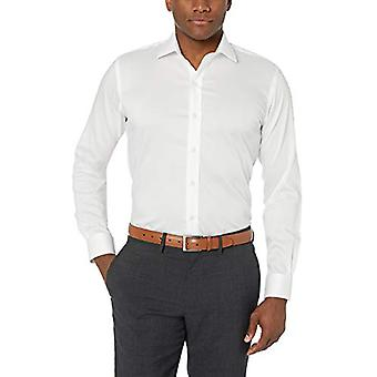 "BUTTONED DOWN Men&s Slim Fit Stretch Twill Non-Iron Dress Shirt, Biały, 15.5""..."