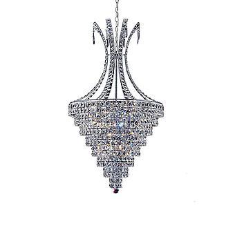Diyas inspirados - Kanya - Colgante de techo 8 Cromo pulido ligero, cristal