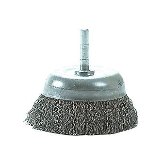 Lessmann DIY Cup Brush with Shank 75mm x 0.35 Steel Wire LES43013307