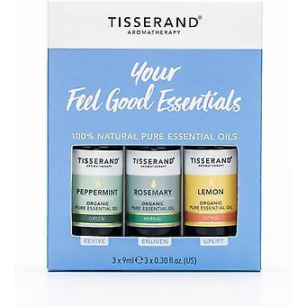 Tisserand Aromatherapy Your Feel Good Essentials Oil Kit Peppermint, Rosemary & Lemon (3x9ml)