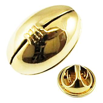 Krawatten Planet vergoldet Rugby Ball Anstecknadel Abzeichen