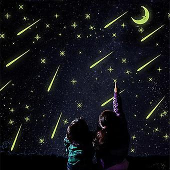 Luminous Star Moon Diy Sticker, Stars Moon Meteor Shower Luminous Sticker Kids