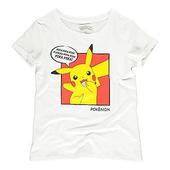 Pokemon Pika Pika Pika PopArt T-Shirt Female Medium White (TS353606POK-M)