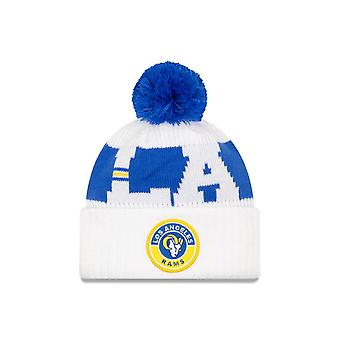 Ny æra Nfl Los Angeles Rams Officielle 2020 Sideline Road Sport Beanie Knit