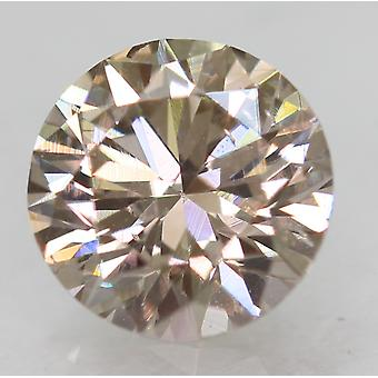 Cert 0.71 Karat Top Vaaleanruskea VVS2 Pyöreä Brilliant Natural Diamond 5.67mm 3EX
