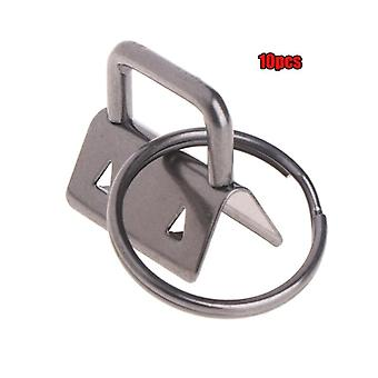 10pcs/25mm Key Fob, Keychain Split Ring For Wristlets Cotton, Tail Clip