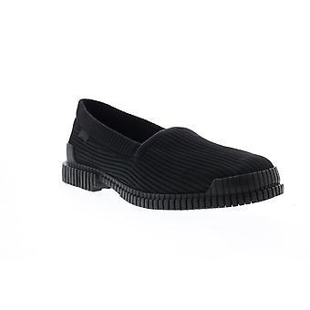 Camper Pix  Mens Black Canvas Loafers & Slip Ons Penny Shoes