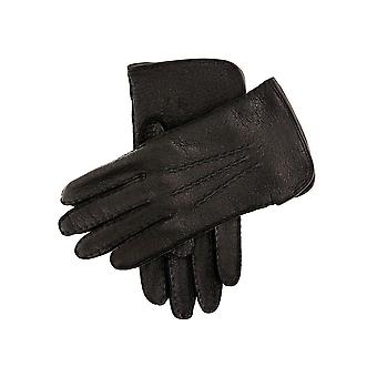 Men's Silk Lined Peccary Leather Gloves