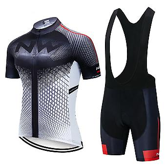 Ensemble à manches courtes d'été Maillot Cycling Jersey, Maillot Bib Shorts Bicycle Clothes