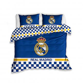 Bettbezug 200 x 220 cm Baumwolle blau/gelb