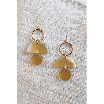 Drop Buffalo Horn Dangle Earrings