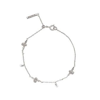 Olivia Burton Obj16amb42 Pearl Bee Chain Bracelet Silver