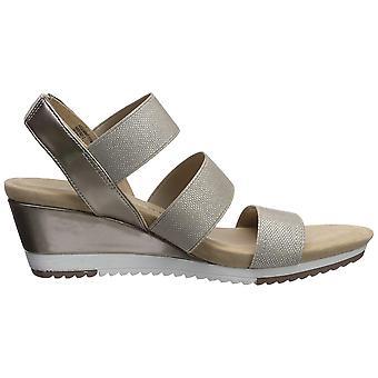 آن كلاين المرأة & apos أحذية الصيف النسيج فتح الدلندل منصة عارضة