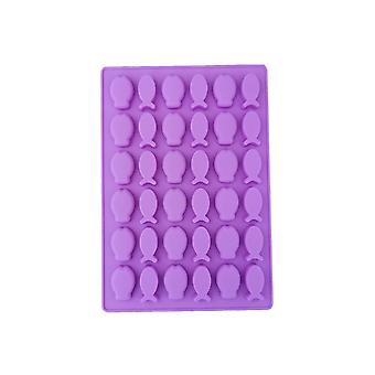 Lila TRP Candy & Csokoládé formák Hal alakú penész konyhai eszközök gyerekeknek