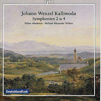 J.W. Kalivoda - Johann Wenzel Kalivoda: Symfonier nr 2 & 4; Konsert uvertyr [CD] USA import