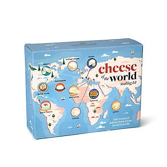 Cheese of the world making kit - thermometer included - make your own mozzarella, halloumi, burrata,