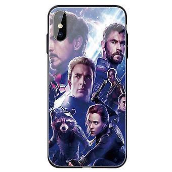 Avengers henkilökohtainen karkaistu lasikotelo Apple iPhone XR: lle