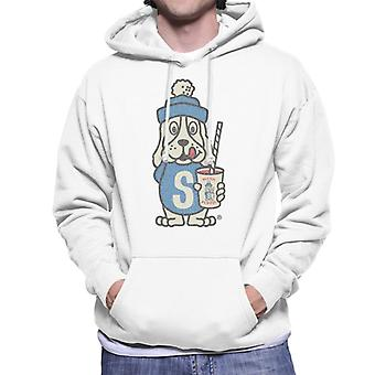 Slush Puppie Distressed 70's Logo Art Men's Hooded Sweatshirt