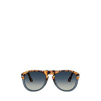 Persol PO0649 gafas de sol masculinas de tortuga marrón y azul ópalo
