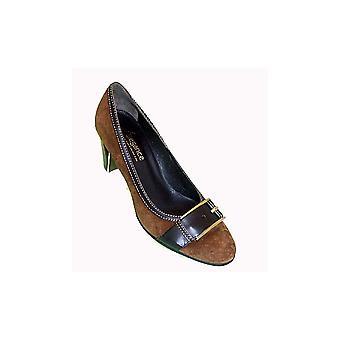 Lorbac Dark/brown Suede Big Leather Buckle