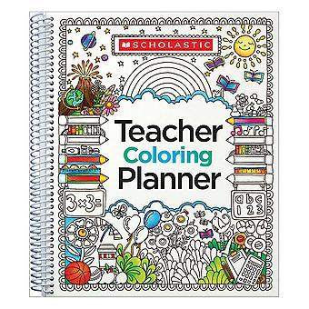 Scholastic Sc-809292 Teacher Coloring Planner