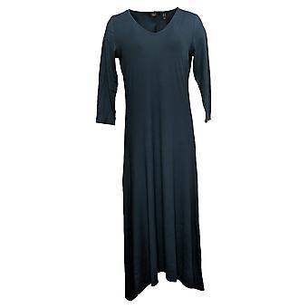 G.I.L.I. Got It Love It Dress Maglia Pesca V-Neck 3/4 Manica Blu A351968