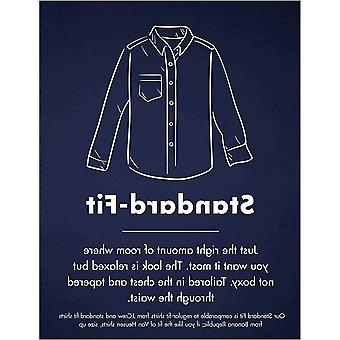 Goodthreads Men's Standard-Fit Long-Sleeve Plaid Oxford Shirt, Navy Eclipse Heather, Large