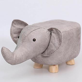 Animal Shaped Storage Ottoman Padded Cushion Ride-on Footrest Stool Rest Seat