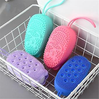 Silicone Body Scrubber, Soft Bubble Bath Brush Shower Exfoliating Sponge