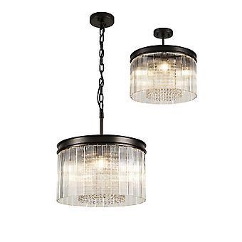 Florero Design Lámpara Colgante 5 Bombillas Marrón Oxidado 31,5 Cm