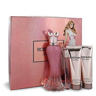 Paris Hilton Rose Rush Geschenk Set von Paris Hilton 3,4 Oz Eau De Parfum Spray + .34 oz Mini EDP Spray + 3 un Body Lotion + 3 un Duschgel
