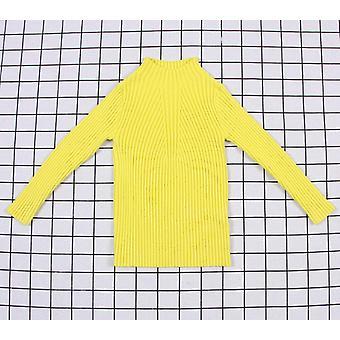 Kiinteä karkki väri, vauvan ribbi villapaita - Neulottu Lasten vaatteet Pullover