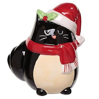 Keräiltävä keraaminen kissa juhlava kissa joulu raha laatikko