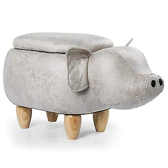 Artificial leather animal footstool low stool, cushion cushion, bedroom, living room