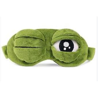 Cute Frog Sleep Eye Mask Verde Cartoon Sad Frog Eye Mask