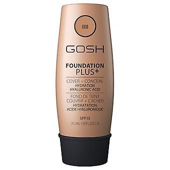Gosh Foundation Plus + Spf 15 Golden 30 ml