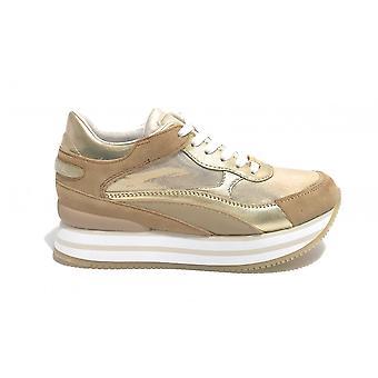 Apepazza Rumer Sneaker Leather Wedge Bottom/ Platinum Fabric Ds21ap08 S1rsd02