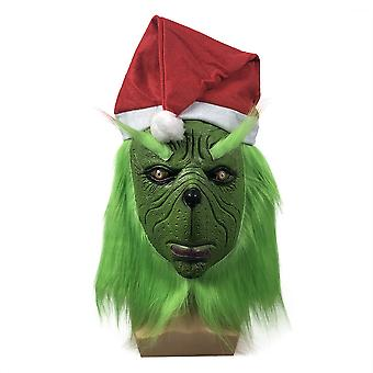How The Grinch Stole Christmas Mask Headgear Grinch Funny Halloween Party Spoof Props